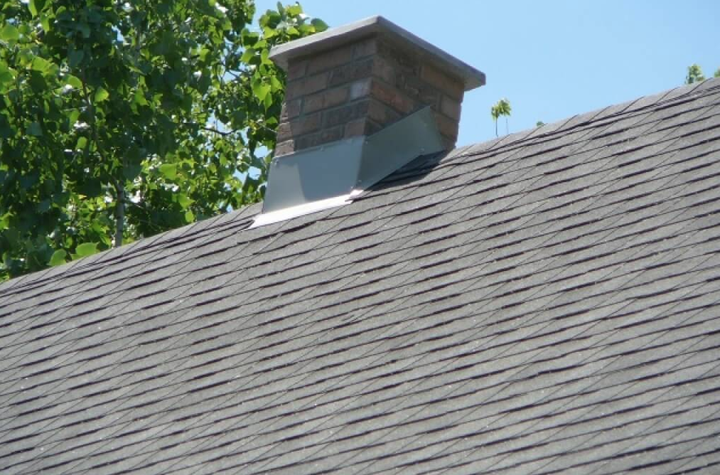 New Shingle Roof & Rebuilt Chimney
